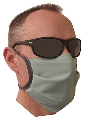 Preisvergleich Produktbild 5 x Behelfs - Mundschutz Maske 5 Stück - waschbar,  abkochbar - 2-lagig - schnell lieferbar - 5er Set Maske Staubmaske Mund- und Nasen-Maske Textil waschbar (5x50)
