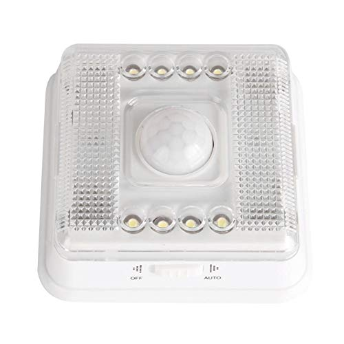 Pwshymi Lámpara infrarroja Humana Inducción Luces de Noche Blancas Ángulo de iluminación 120 para Compartimento de Equipaje de Coche, Compartimento Trasero para escaleras, ático, Cuarto Oscuro,