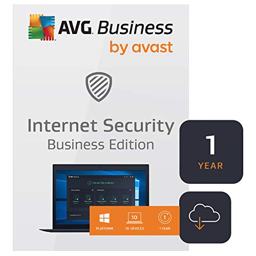 AVG Internet Security Business Edition 2020   Antivirus protection for PCs, emails, servers & network   10 Devices, 1 Year [Download]