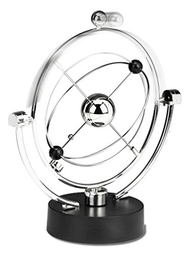 Perpetual Motion Desk Sculpture Toy - Kinetic Art Galaxy Planet Balance Mobile - Magnetic Executive Office Home Décor Tabletop Toy - Men Women Stress Relief