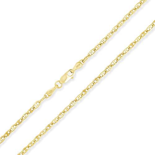 14 Karat 585 Gold Italienisch Rund Mariner Kette Gelbgold - Breite 2.50 mm (60)
