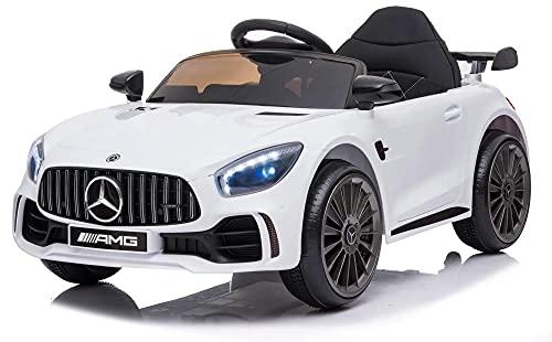 giordano shop Macchina Elettrica per Bambini 12V Mercedes GTR Small AMG Bianca