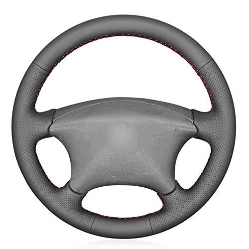 SODMLZ Cubierta de Volante de Piel sintética Negra de PU, para Citroen Xsara Picasso 2001-2010 Berlingo 2003-2008 C5 2001-2006 Peugeot Partner