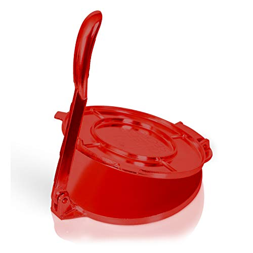 Chef's Secret Red Press, Durable Quickly Easily Makes Delicious Tortillas for Any Recipe, 6-Inch, One Size, Multicolored
