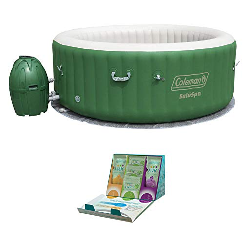 Coleman SaluSpa 6 Person Inflatable Spa + SpaGuard Water Softening Kit