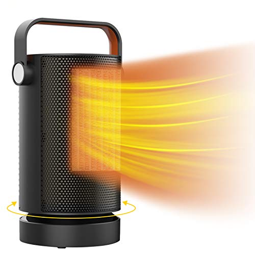 Space Heater, 1000W PTC Fast Heating Portable Heater, Electric Heater for Home Dorm Office Desktop...