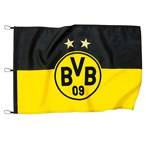 Borussia Dortmund Hissfahne, Fahne Logo (150 x 100 cm) BVB 09 - Plus Lesezeichen I Love Dortmund