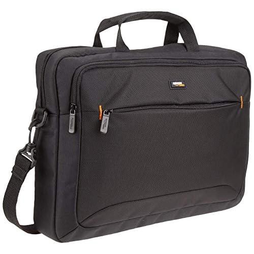 AmazonBasics - Borsa compatta per computer portatile con tasche per accessori (15,6 pollici, 40 cm), nera, confezione da 1