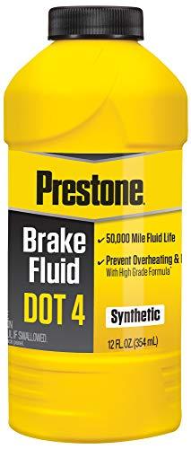 Prestone AS800Y DOT 4 Brake Fluid, Synthetic, High Grade, 50,000 Mile, 12 oz.