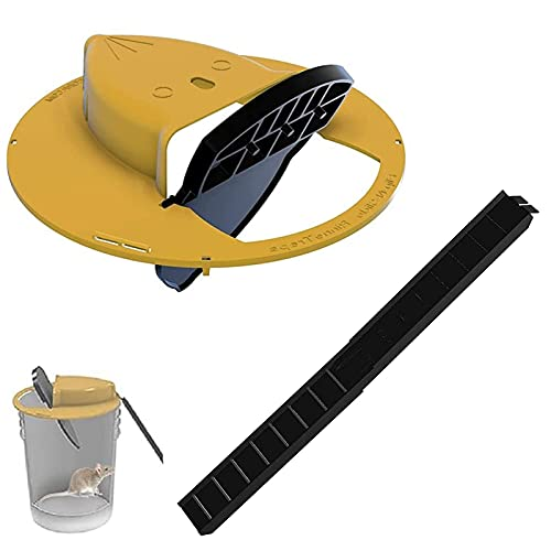 Slide Bucket Lid Mouse Rat Trap, Flip N Slide Bucket Lid Mouse Trap, Auto Reset Multi Catch, Compatible with 5 Gallon Bucket For Indoor Outdoor