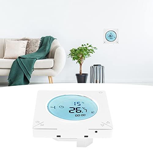 Termostato de calefacción eléctrica, antiinterferencias de diferentes modos Termostato inteligente PC y ABS Materiales ignífugos para sala de estar para comedor
