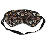 Antifaz para dormir con Wipe Your Paw Dog Feet, ajustable, transpirable, antifaz para dormir y dormir