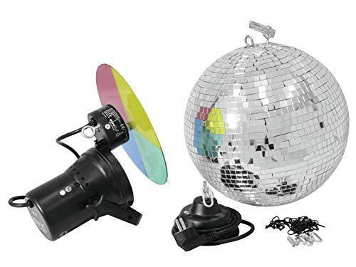 Eurolite Mirror ball set 30cm with pinspot Multicolor - Accesorio de discoteca (Multicolor, 30 W, 230 V, 1 kg, 160 x 150 x 170 mm)