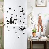 Etiqueta de la pared removible PVC Art Wall Decal Mural Wallpaper Cocina Refrigerador Etiqueta Personalidad Fondo Decoración de la pared 52X82Cm