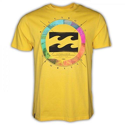 BILLABONG - Camiseta de Manga Corta Colour Wheel, Chico, Color: Amarillo, Talla: 10 años