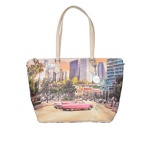 YNOT donna borsa shopping con tracolla L-397 MIAMI UNICA Miami