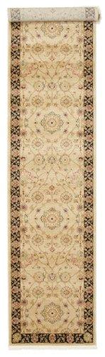 Farahan Ziegler - Beige Teppich 80x400 Orientalischer, Läufer Teppich
