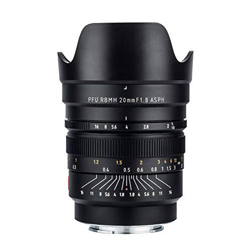 Viltrox 20 mm F1.8 ASPH Weitwinkelobjektiv Manueller Fokus Objektiv Vollformat Festbrennweite für Sony FE Mount