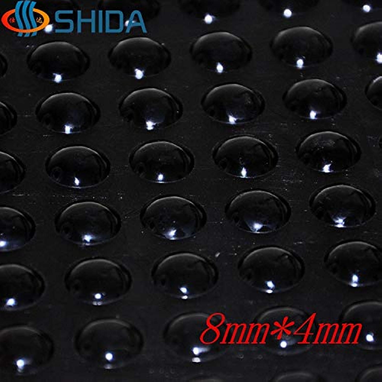 Hot Sale 1000Pcs 8  4mm Black Soft Anti Slip Self Adhesive Silicone Rubber Feet Pads Bumper Damper Silica Gel Shock Absorber