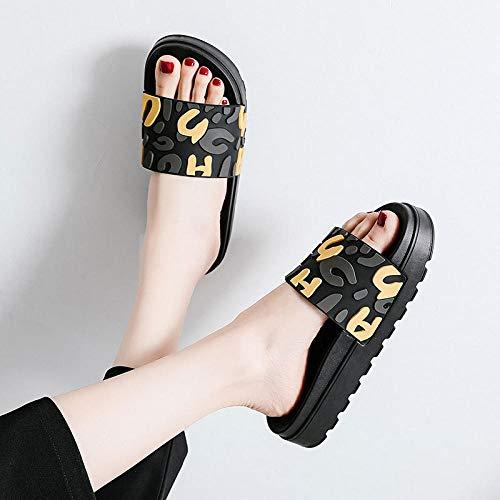 B/H ZapatosDePiscina,Sandaliasdeplataformademoda,zapatillasantideslizantesdemoda-Yellow_39/40,SandaliasdePuntaDescubiertaChanclas