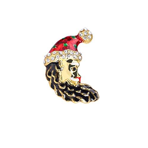 ABOOFAN Weihnachten Emaille Broschen Santa Socken Baum Mond mit Santa Hut Kragen Abzeichen Anstecknadel Männer Anzug Stud Shirt Legierung Brosche Kostümzubehör