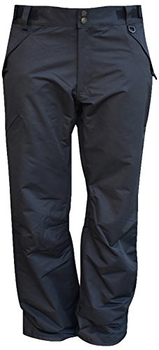 Pulse Mens Technical Insulated Snow Skiing Pants (Medium, Black)