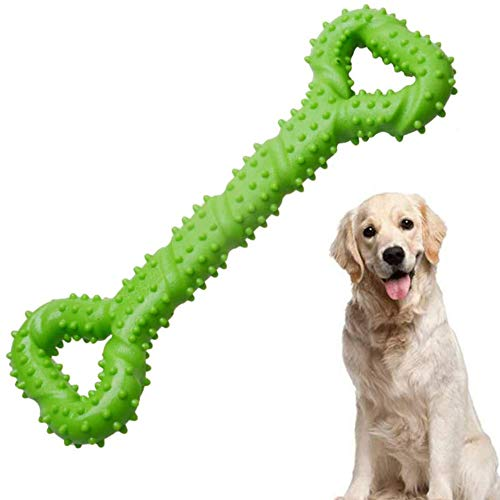 Dog Toys Indestructible voor Agressieve Grote Hond, Duurzaam Long Lasting sterk taai Chew TPR rubber bot Shape Tooth Cleaning Toys Perfect te verlichten Huisdieren Verveling Interactive Training Toys