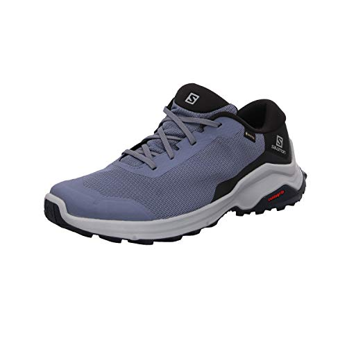 Salomon X Reveal GTX, Zapatillas de Senderismo para Hombre, Morado (Flint Stone/Black/India Ink), 43 1/3 EU