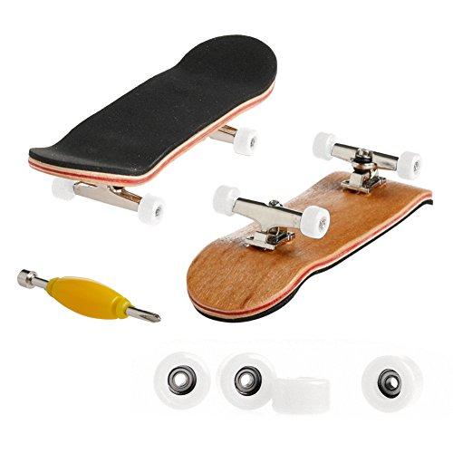 ECMQS Professionelle Typ Lager R?der Skid Pad Ahorn Holz Finger Skateboard Legierung Stent Radlager Griffbrett Neuheit Kinder Spielzeug
