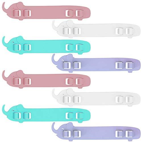 KRY 8pcs Ear M Ask Hook Ear Wear Adjustable Buckle Ear Rope Anti-Slip Ear Hooks Extension Buckle Grips for Ear Protection