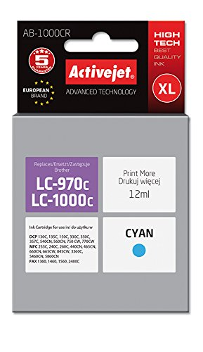 ActiveJet EXPACJABR0010 inkt AB-1000CR Refill voor Brother LC970C/LC1000C, cyaan