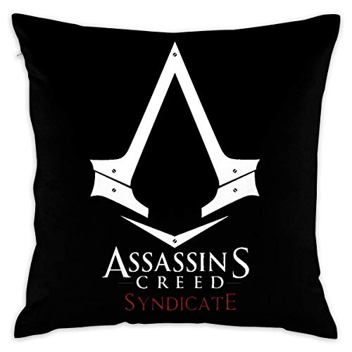 from Assassin'S Creed Syndicate Decorative Cushion Cover Pillow Covers Case Pillowcases Fundas para Almohada 26x26Inch(65cmx65cm)