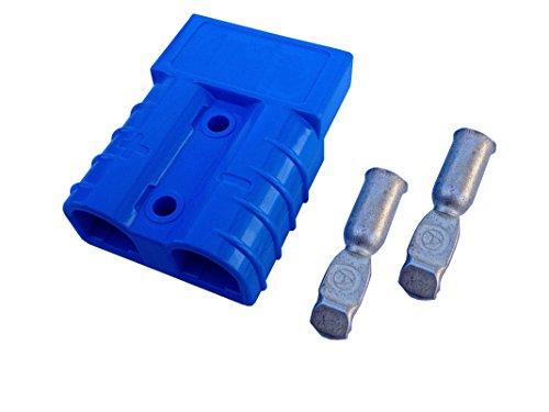 Conjunto de conectores para carretilla elevadora conectores del cable de carga de la batería 50A 16 mm², cable de conexión azul