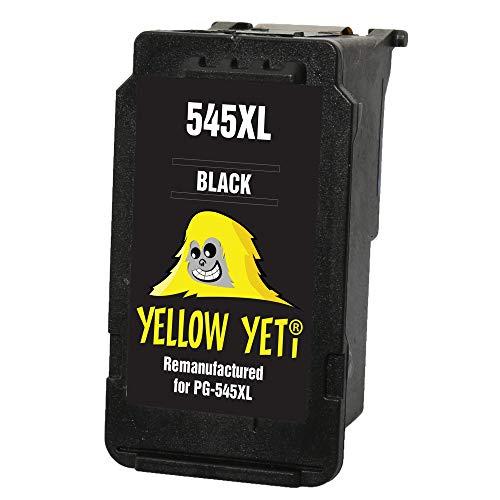 Yellow Yeti PG-545XL PG-545 XL Cartucho de Tinta remanufacturado Negro para Canon Pixma MG2450 MG2550 MG2550S MG2555S MG2950 MG3050 MG3051 MG3052 MX495 iP2850 TR4550 TR4551 TS205 TS305 TS3150 TS3151