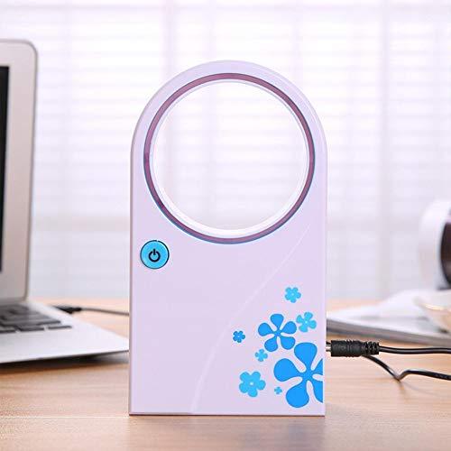 QAQWER Mini Air Cooler, Mini Draagbare Bladeless Ventilator Koeling USB Desktop Leaf Air Conditioner Koeler Luchtbevochtiger