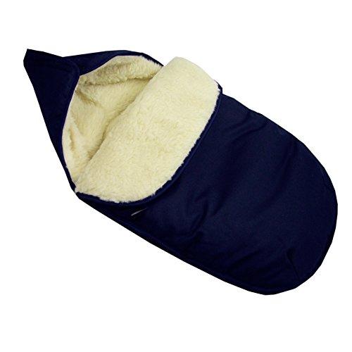 Los bebés-Dreams saco de abrigo de invierno para capazo para cochecito de bebé azul marino Maxi-Cosi lana de cordero lana de cordero de Tarantino con George Clooney saco para de invierno