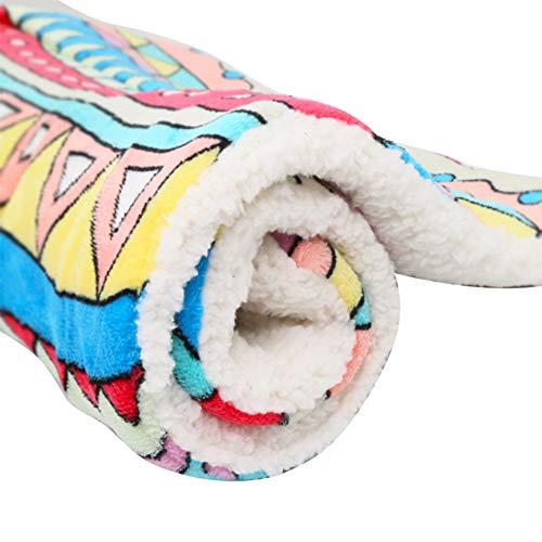 Haodou Haustier Decke Hundebett Hundekissen Bunt Geometrie Muster Decke Matte Mimi Softe Warme Flanell Hundedecke Katzendecke Fleecedecke Schlafplatz Hund Katzen für den Winter(55 * 45CM)