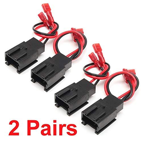 FSM-accesorios de automóviles, 2Pairs altavoz del coche adaptador de cable de altavoz...