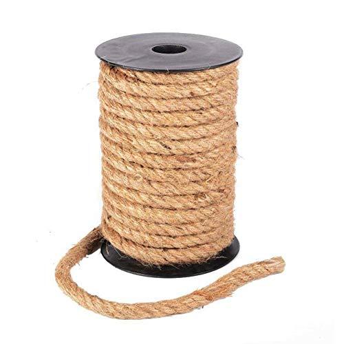 Lâ Vestmon Hanfseil,Jute Seil,Natürliche Hanfschnur Seil,4-10mm Dicke und Starke Jutekordel Schärpe, Mehrzweck Utility Sisal Seil
