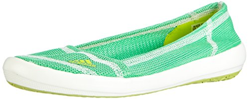 adidas Boat Slip-On Sleek, Damen Geschlossene Ballerinas, Grün (Semi Solar Yellow/Semi Flash Green S15/Chalk White), 36 EU (3.5 Damen UK)