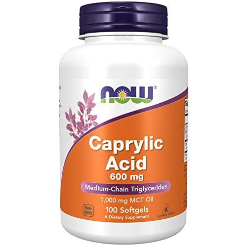 Now Foods I Caprylic Acid (Caprylsäure) 600mg I Für die Verdauung I 100 Weichkapseln