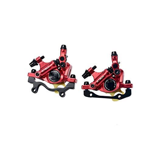 NYK Zoom, pinze freno a disco idraulico per mountain bike anteriore e posteriore (rosso)