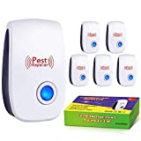 Ultrasonic Pest Repeller 6 Pack, 2020 Upgraded, Pest Repellent, Electronic Indoor Pest Repellent