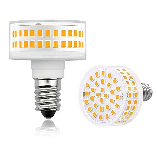 Luxvista Bombilla E14 Maíz LED Regulable 5.5W Forma de Hongo, Redonda Cilindro Lámpara Base Pequeña Rosca, Iluminación Ángulo 360° para Lámpara de araña, Ventilador de Techo (Blanco Cálido 3000K)