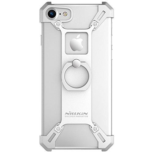 Carcasa de metal para iPhone 7 Plus de 5,5 pulgadas, diseño único, color plateado
