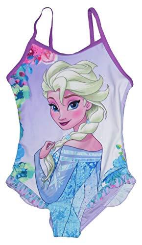 Disney Frozen Mädchen Badeanzug Alter 4 bis 8 Jahre (Lila, 110)