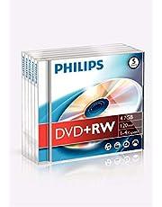 Philips DVD + RW 4,7 GB / 120 Min / 4X Jewel Case (5 Disc)