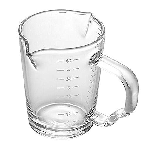 150ml Glass Measuring Cup Double Spouts Espresso Shot Glass Cup Heat-Resistant Handle Transparent Scale Ounce Measure Jugs Mixing Mug for Bar Party Wine Milk Coffee Liquid Heavy Glass Measuring Cup