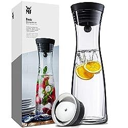 WMF Basic Wasserkaraffe, 1 Liter Fassungsvolumen, Höhe 29cm mit CloseUp-Verschluss aus Cromargan Edelstahl, rostfrei