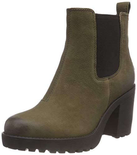 Vagabond Grace, Damen Chelsea Boots, Grün (Dark Olive), 38 EU (5 UK)